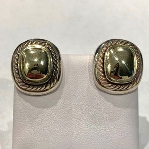 David Yurman Large Albion Earrings 14k Gold